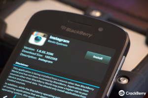 Instagram on Blackberry
